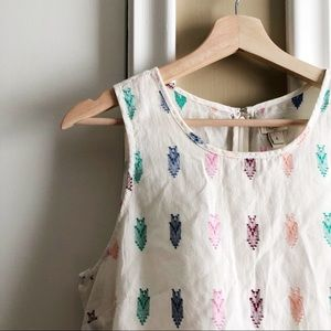 J. Crew Factory | Patterned Sleeveless Shirt